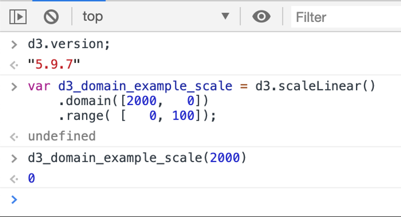 D3 Domain Example Three Left Most Value